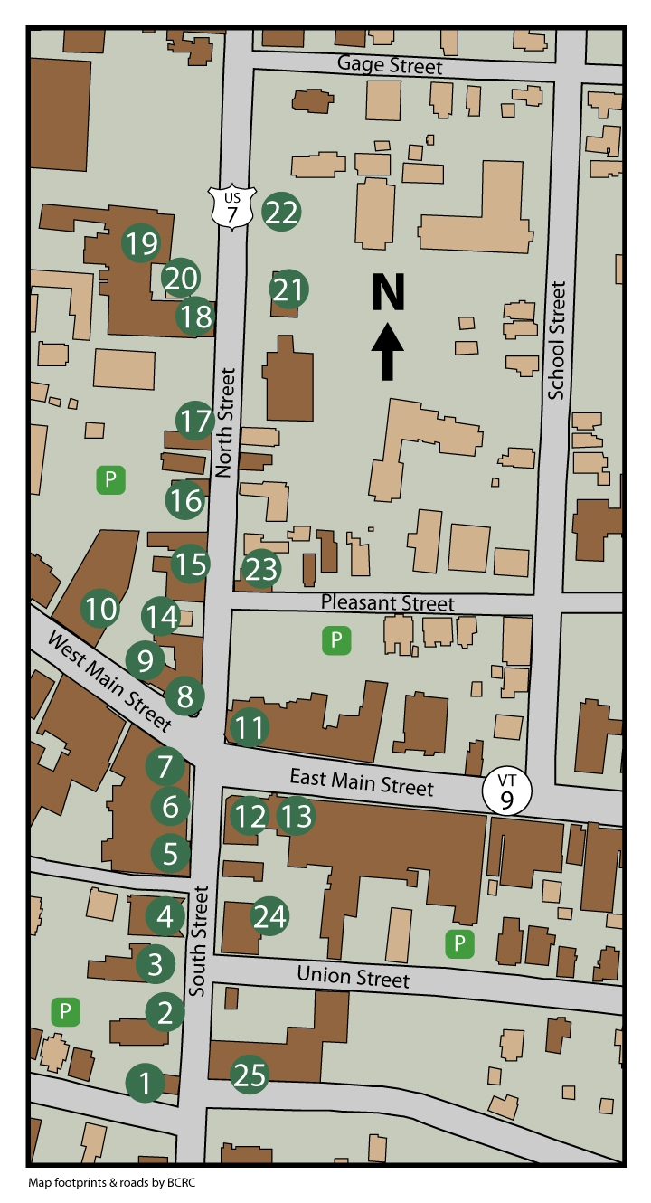 Old Bennington Walking Tour Map